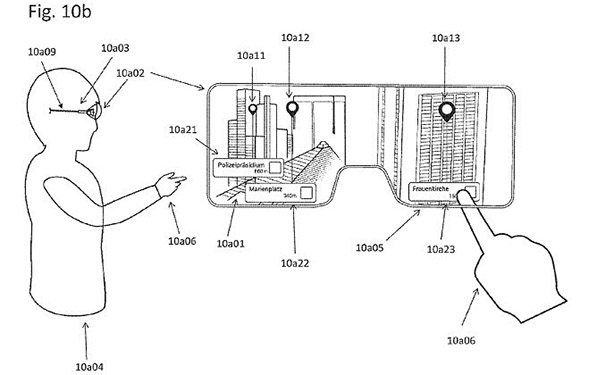 苹果AR眼镜专利